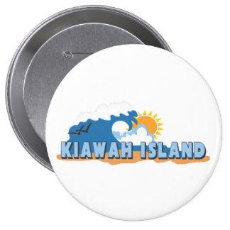 Kiawah Island. 4 Inch Round Button