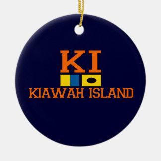 Kiawah Island. Adorno Navideño Redondo De Cerámica