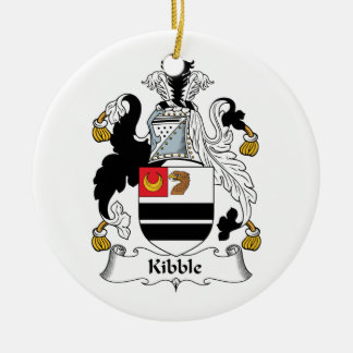 Kibble Family Crest Double-Sided Ceramic Round Christmas Ornament