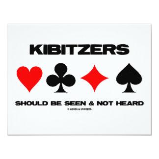 Kibitzers Should Be Seen And Not Heard 4.25x5.5 Paper Invitation Card