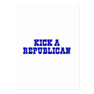 Kick a Republican Postcard