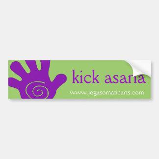 kick asana car bumper sticker