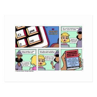 """Kick-ass Maintenance"" Postcard! Postcard"