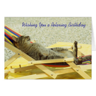 Kick back and Relax Birthday Card