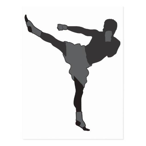 Kick Boxer Post Card