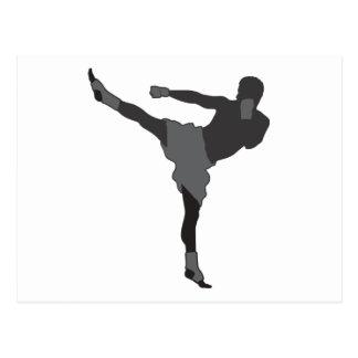Kick Boxer Postcard