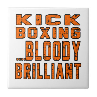 Kick Boxing Bloody Brilliant Small Square Tile