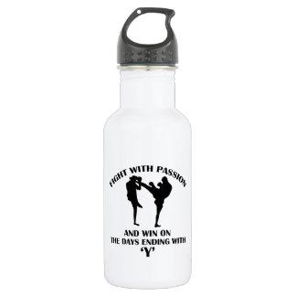 Kick Boxing design 18oz Water Bottle