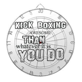 Kick Boxing design Dartboard With Darts