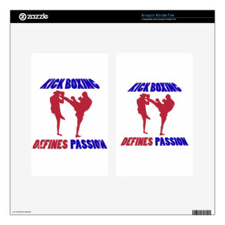Kick Boxing design Decal For Kindle Fire
