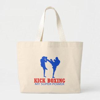 Kick boxing Designs Jumbo Tote Bag