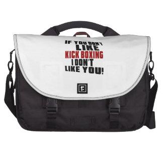 KICK BOXING Don't Like Laptop Messenger Bag