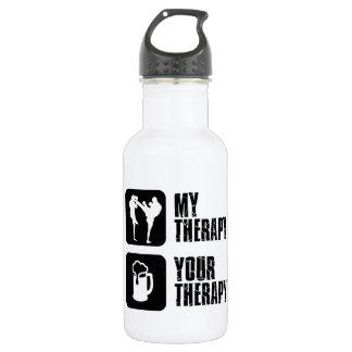 Kick-Boxing my therapy 18oz Water Bottle