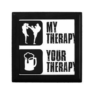 Kick-Boxing my therapy Trinket Boxes