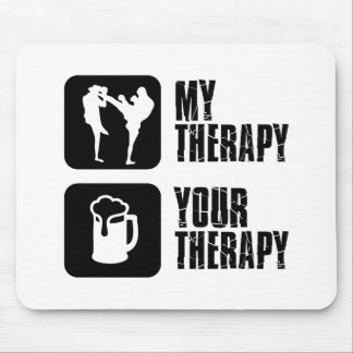 Kick-Boxing my therapy Mouse Pad