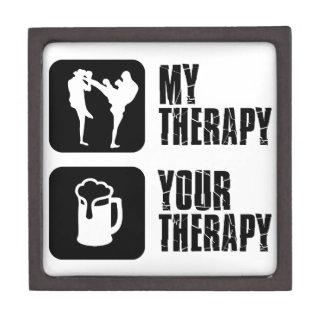 Kick-Boxing my therapy Premium Keepsake Boxes