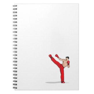 Kick Boxing Spiral Notebook