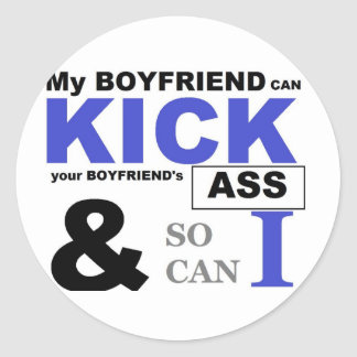 Kick Butt Classic Round Sticker