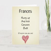 Kick Cancers Butt Customisable Card