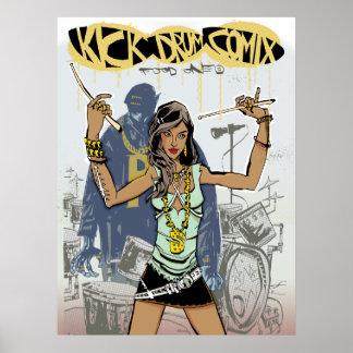 Kick Drum One Print/Poster
