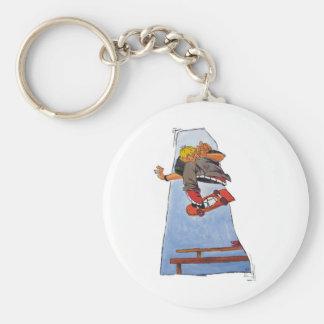 Kick Flip King! Basic Round Button Keychain