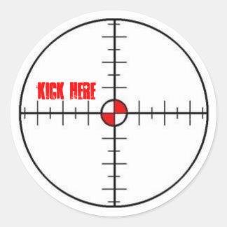 kick here sticker