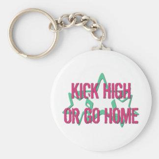 Kick High or Go Home Keychain