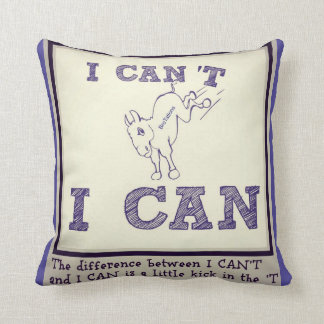 Kick in the T throw pillow