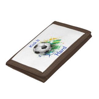 Kick It Hard Soccer Ball Wallet