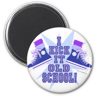 Kick it Old School Fridge Magnets