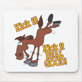 kick it real good funny kicking horse mouse pads