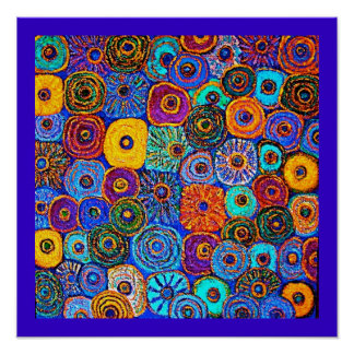 Kick It Up! Circles Flowers Posters