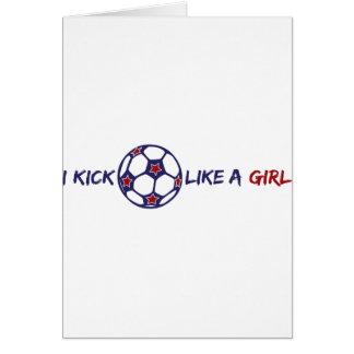 Kick Like A Girl (Soccer) Card