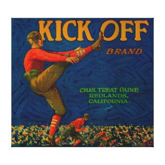 Kick Off Orange LabelRedlands, CA Canvas Print