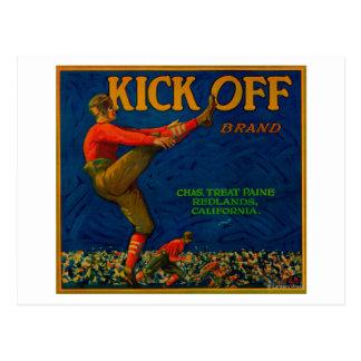 Kick Off Orange LabelRedlands, CA Postcard