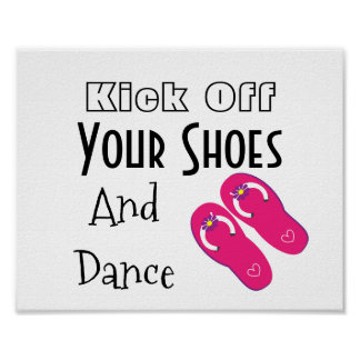 Kick Off You Shoes Flip Flops Wedding Script Sign