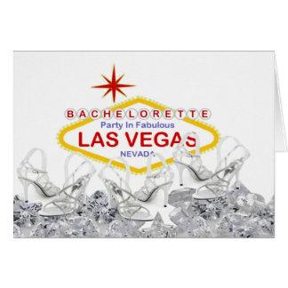 """""""Kick off your Heels"""" Las Vegas Bachelorette Party Card"""