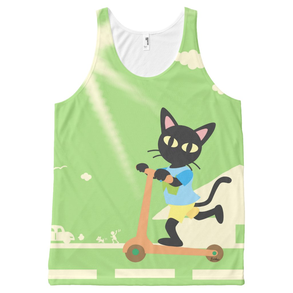 Kick scooter All-Over-Print tank top