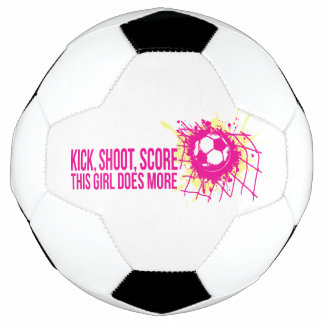Kick shoot score this girl does more soccer soccer ball