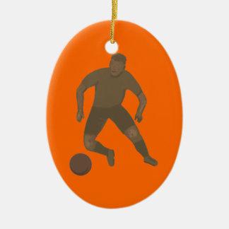 Kick That Ball Ceramic Ornament
