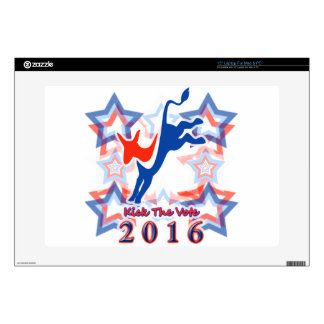 "Kick The Vote Democratic Party GOTV Reminder 2016! Decal For 15"" Laptop"