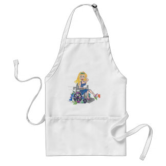 Kick up some Flowers in a wheel-chair Adult Apron