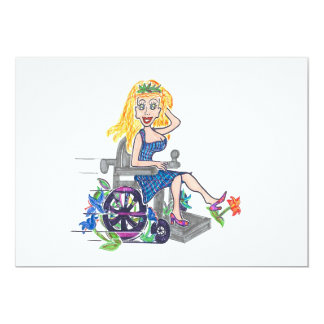 Kick up some Flowers in a wheel-chair Card