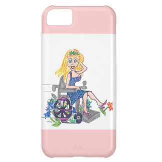 Kick up some Flowers in a wheel-chair Case For iPhone 5C