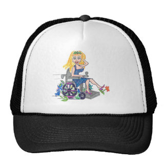 Kick up some Flowers in a wheel-chair Mesh Hats