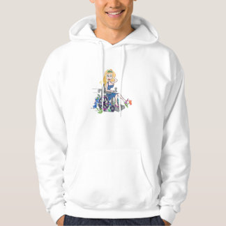Kick up some Flowers in a wheel-chair Hooded Pullover