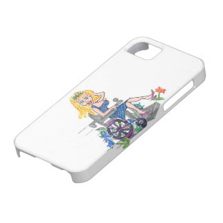 Kick up some Flowers in a wheel-chair iPhone SE/5/5s Case
