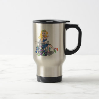 Kick up some Flowers in a wheel-chair Coffee Mugs