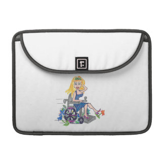 Kick up some Flowers in a wheel-chair Sleeve For MacBook Pro