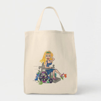 Kick up some Flowers in a wheel-chair Tote Bag